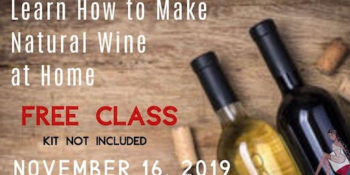 Learn to Make Natural Wine at Home (FREE)