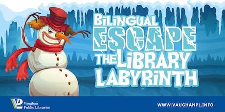 Bilingual Escape the Library Labyrinth billets