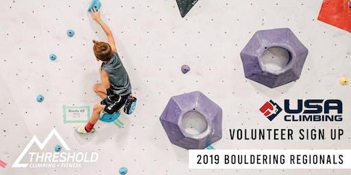 USA Climbing 402 Bouldering Regional Volunteer Registration