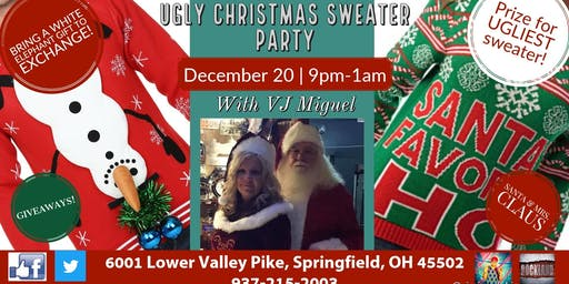 Ugly Christmas Sweater Party with VJ Miguel