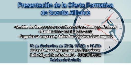 Talleres de formación  gratuita de Scentia Alliance