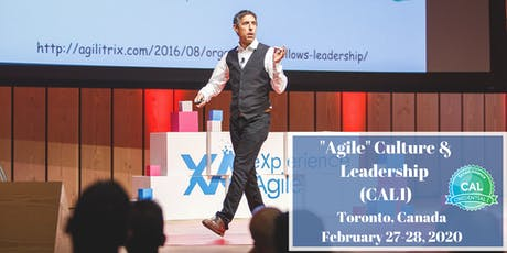 """Agile"" Culture & Leadership (CAL1) in Toronto with Michael K Sahota tickets"