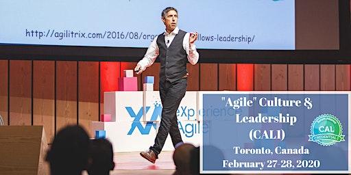 """Agile"" Culture & Leadership (CAL1) in Toronto with Michael K Sahota"