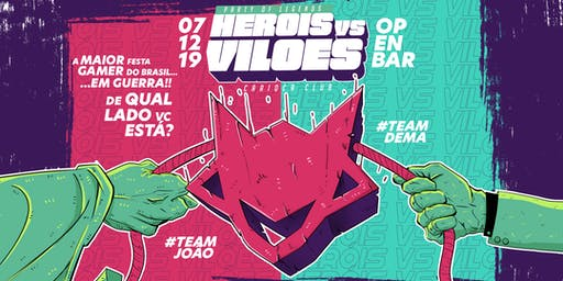 Experiência Claro Gaming - Party of Legends - Herois vs Viloes