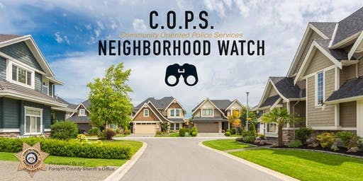 "HERRINGTON TRACE ""COPS"" NEIGHBORHOOD WATCH MEETING"