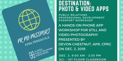PR PD PASSPORT: Photo & Video App Workshop