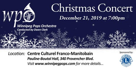 Winnipeg Pops Orchestra Christmas Concert tickets