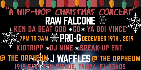 "Raw Falcone's ""A Hip-Hop Christmas Concert"" (Tampa, FL)"