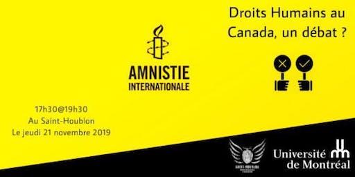 Droits Humains au Canada, un débat ?