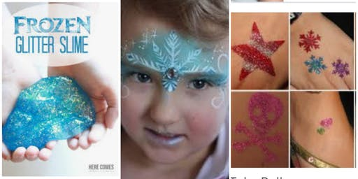 Make Frozen Slime w/Elsa- Decorate A Tiara Etc...