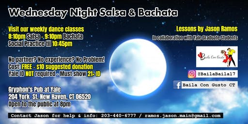 Wednesday Night Salsa & Bachata - New Haven Dance Class & Social