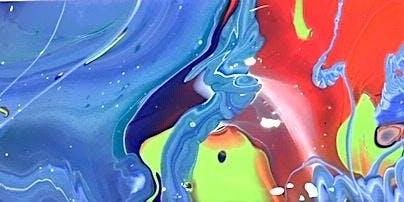 Two Hearts - Fluid Art
