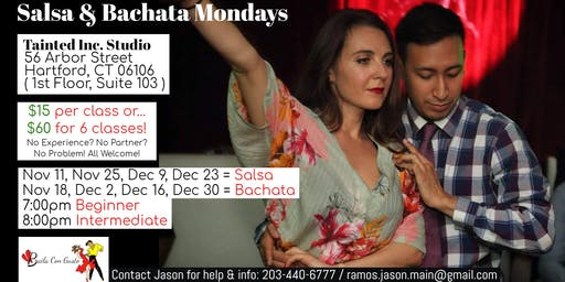 Salsa and Bachata Mondays with Baila Con Gusto - Weekly Classes