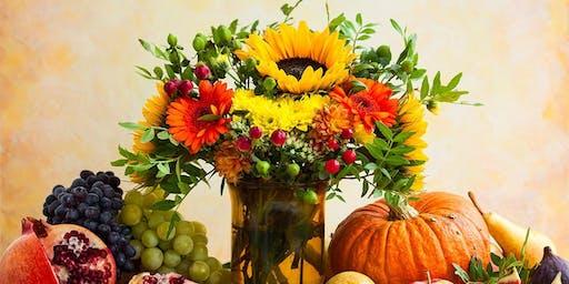 Teen/Adult Cut Flower Thanksgiving Centerpiece Workshop