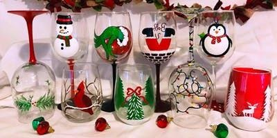 PRIVATE Wine Glass Painting Party - Colleen