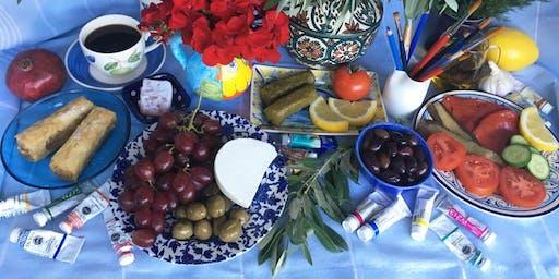 Watercolours: Food of Greece