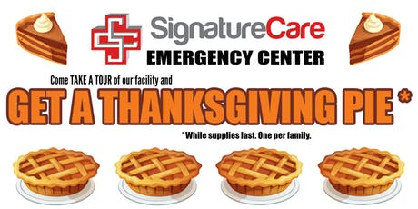FREE Thanksgiving Pie from SignatureCare ER tickets