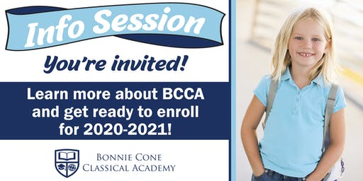 Bonnie Cone Classical Academy - Info session
