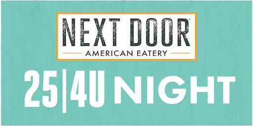Johnson Elementary 25|4U Night at Next Door in Fort Collins