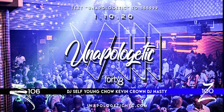 UNAPOLOGETIC 8 | NO REGRETS | DJ SELF | YOUNG CHOW | KEVIN CROWN | 2 tickets