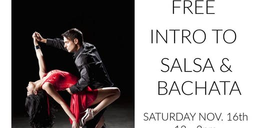 FREE INTRO TO SALSA & BACHATA WORKSHOP!  YEP!  ITS REALLY FREE!