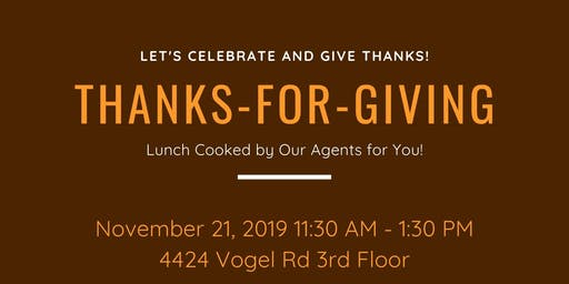 Thanks-For-Giving 2019 Luncheon from Keller Williams