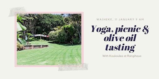 Post-Christmas yoga  recovery at Rangihoua Estate