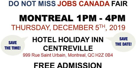 Montreal Job Fair – December 5th, 2019 tickets