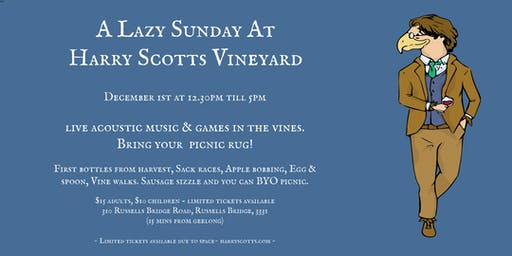 A Lazy Sunday At Harry Scotts Vineyard