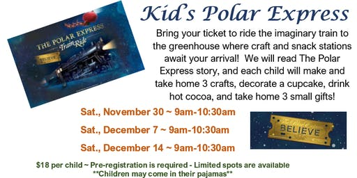 Kid's Polar Express Workshop