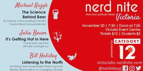 Nerd Nite Victoria November 2019 tickets