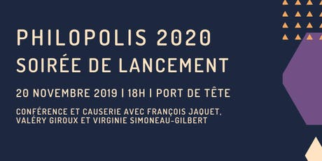 Soirée de lancement Philopolis 2020 tickets
