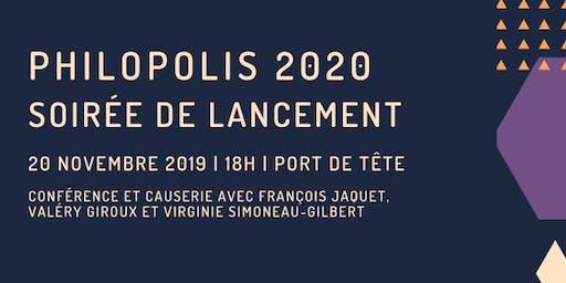 Soirée de lancement Philopolis 2020