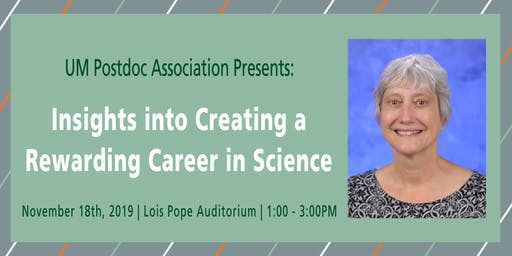 Insights into Creating a Rewarding Career in Science