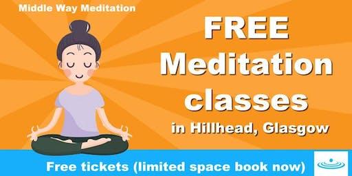 Free Meditation Class in Hillhead Library, Byres Road, Glasgow