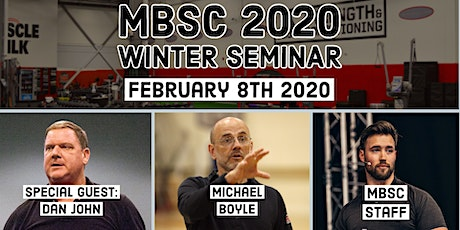 2020 MBSC Winter Seminar featuring Dan John tickets