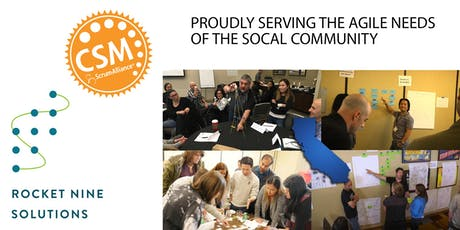 Certified Scrum Master Training (CSM) Orange County, CA Jan 2020 tickets