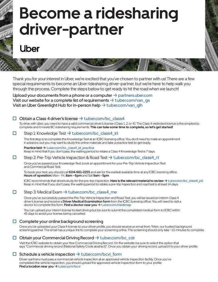 Uber Driver Information Session Rose Recruitment