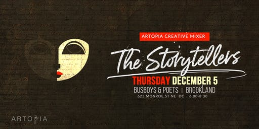 Artopia Creative Mixer | The Storytellers Edition