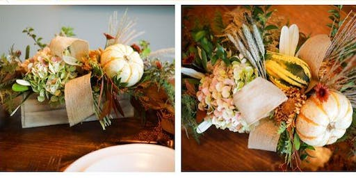 Farmhouse Floral Box Centerpiece Class