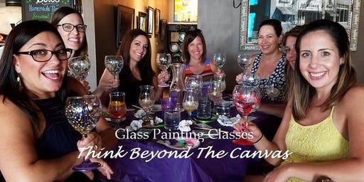 New Class! Join us for our Wine Glass Painting Party Workshop at Club Pilates Huntersville on 12/7 @ 2pm