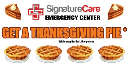 FREE Thanksgiving Pie from SignatureCare ER