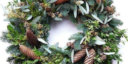 Christmas Evergreen wreath workshop