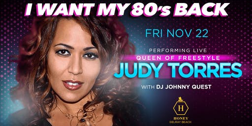 I Want My 80s Back w/Judy Torres