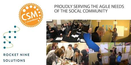 Certified Scrum Master Training (CSM) Orange County, CA April 2020 tickets