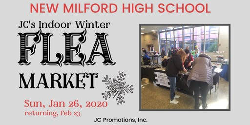 JC's New Milford High School Flea Market Indoors