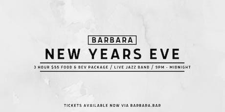Barbara New Years Eve tickets