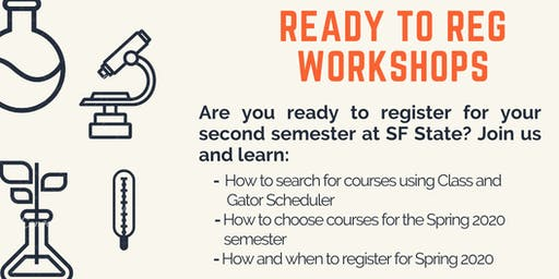 CoSE Ready To Reg Spring 2020 Registration Workshop
