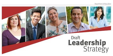 Draft Leadership Strategy Feedback Workshop tickets