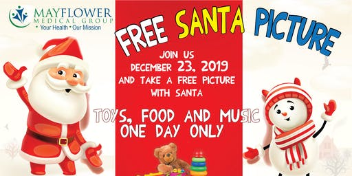toy drive and free santa picture